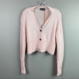NWT Wooden Ships Cropped Caprice Pink Cardigan XS